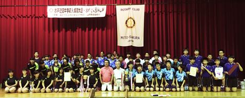 中学生の卓球大会