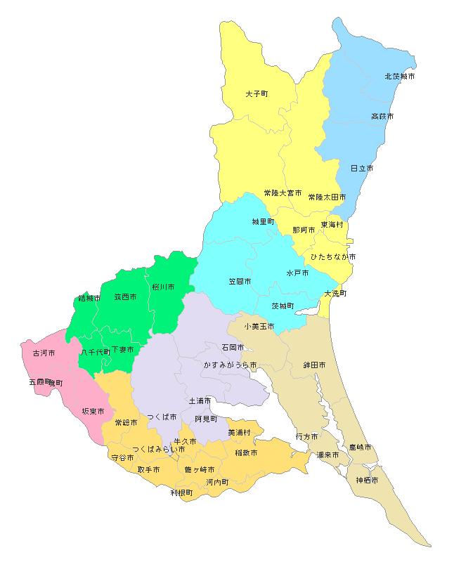 国際ロータリー第2820地区マップ